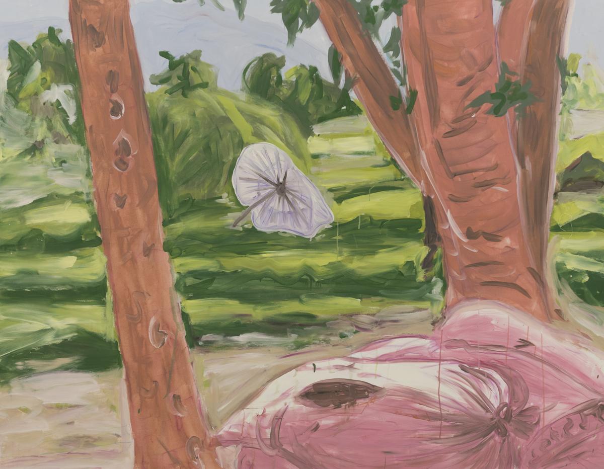 Slzy papájových polí (Luang Prabang),  akryl na plátne, 140 x 180cm, 2016 Foto: Adam Šakový