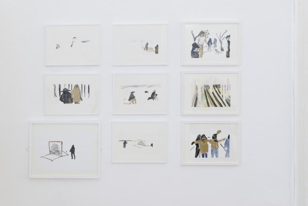 Kresby z Nidy,  tuš a akvarel na papieri, 2013 Foto: Adam Šakový