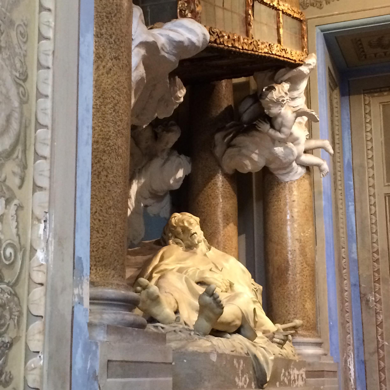 Schody v San Alessio (relikvia v barokovej adjustácii)